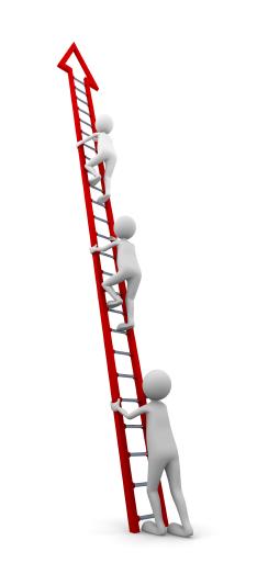 Board Members Climbing Ladder