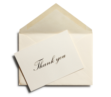 thank you card before you can ask for a major gift you need to focus on gratitude