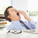 Yawning board member