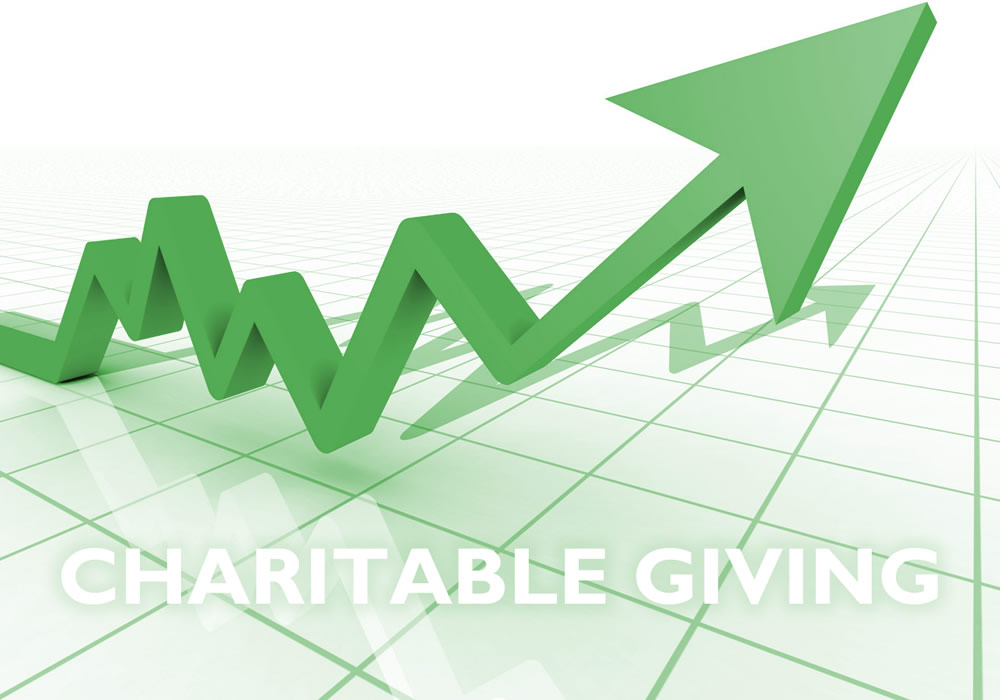 Charitable giving is on the rise