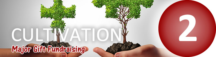 Major Gift Fundraising - Cultivation (step 2)