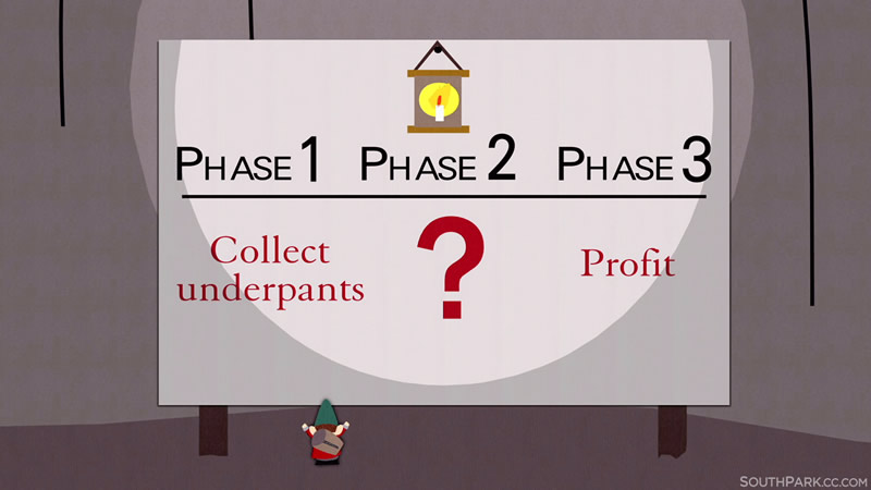 Approaching fundraising like the Underpants Gnomes