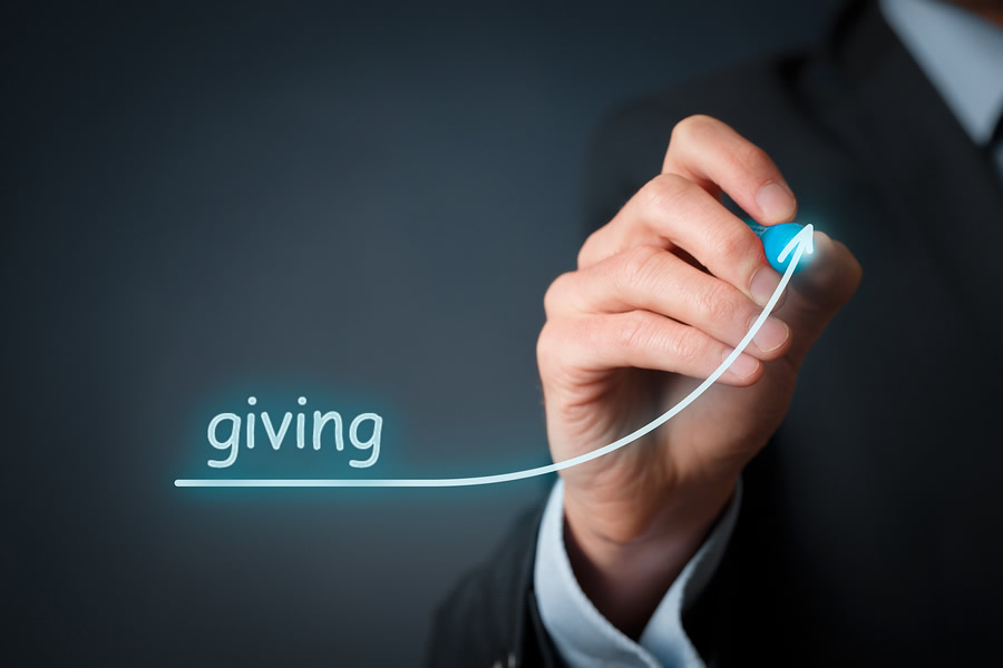 Giving is up!